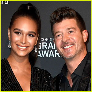 Robin Thicke & April Love Geary Welcome Baby Girl Lola Alain