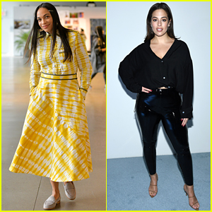 Rosario Dawson & Ashley Graham Have Fun at NYFW Shows!