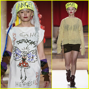 Rose McGowan Makes Political Statement at Vivienne Westwood Fashion Show