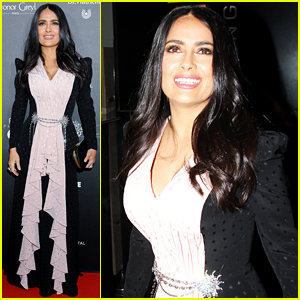 Salma Hayek is 'Proud' of Her White Hair at Globe De Cristal Ceremony