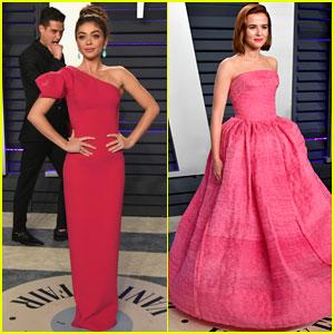 Wells Adams Photobombs Sarah Hyland at Vanity Fair's 2019 Oscars Party!