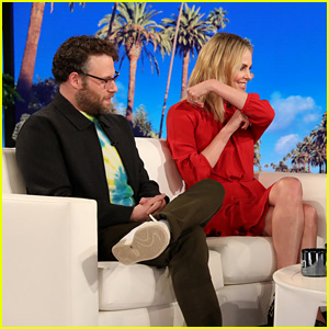 Charlize Theron Shows Seth Rogen Her Make Out Tips - Watch!