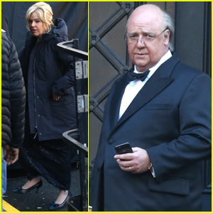 Sienna Miller Joins Russell Crowe on Set of Roger Ailes Series