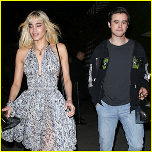 Sofia Boutella & Keean Johnson Couple Up for Vanity Fair's New Hollywood Party!