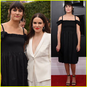 Teddy Geiger Joined By Fiancée Emily Hampshire at Grammys 2019!