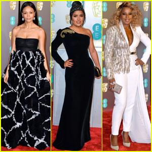 Thandie Newton, Salma Hayek & Mary J. Blige Attend BAFTAs 2019!