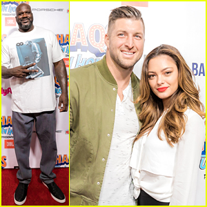 Tim Tebow Brings Fiancee Demi-Leigh Nel-Peters to Shaq's Funhouse!