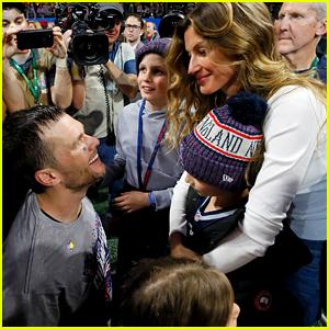Tom Brady's Wife Gisele & 3 Kids Celebrate His Super Bowl Win!
