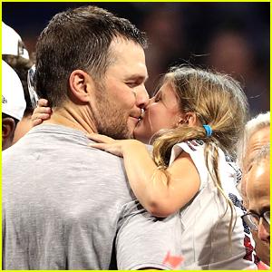 Tom Brady Gives Daughter Vivian a Kiss After Super Bowl Win!