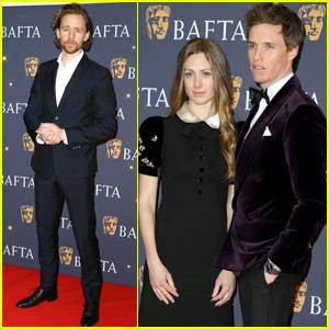 Tom Hiddleston & Eddie Redmayne Suit Up For BAFTA Film Gala!