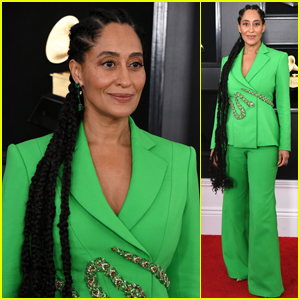 Tracee Ellis Ross Is Gorgeous in Green at Grammys 2019