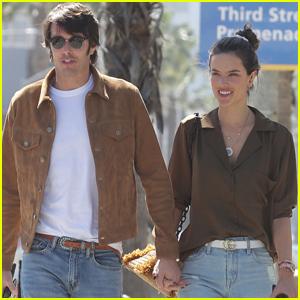 Alessandra Ambrosio & Nicolo Oddi Coordinate for Lunch in Santa Monica