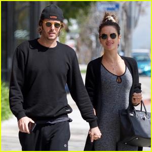 Alessandra Ambrosio & Boyfriend Nicolo Oddi Head to Pilates in L.A.