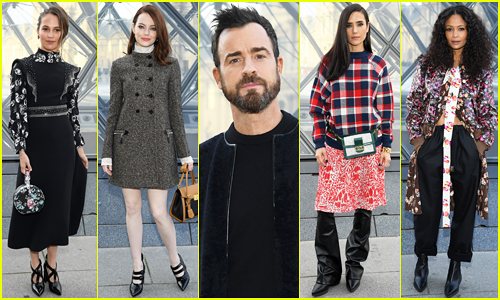 Alicia Vikander, Emma Stone, Justin Theroux & More Sit Front Row at Louis Vuitton Paris Show!