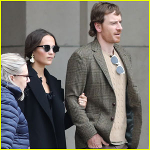 Alicia Vikander & Michael Fassbender Enjoy the Day in Paris