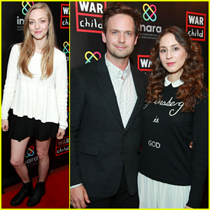Amanda Seyfried, Troian Bellisario, & Patrick J. Adams Attend an Evening of Comedy for a Good Cause