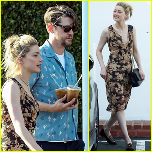 Amber Heard & Rumored Boyfriend Andy Muschietti Head to the Movies
