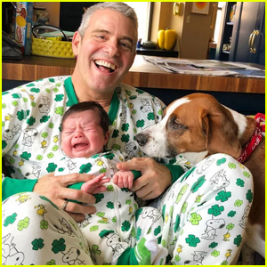 Andy Cohen Shares Adorable Photo with Crying Son Benjamin & Dog Wacha for St. Patrick's Day!
