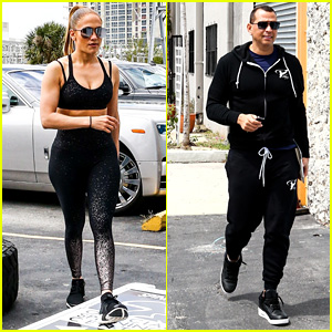 Jennifer Lopez & Alex Rodriguez Hit the Gym After Getting Engaged!