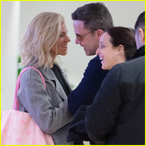 Ben Affleck & Lindsay Shookus Couple Up to Jet Out of NYC