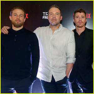 Charlie Hunnam, Ben Affleck & Garrett Hedlund Take 'Triple Frontier' to Singapore