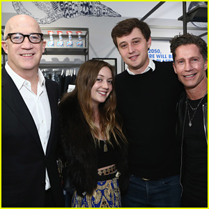 Billie Lourd Hangs Out With Boyfriend Austen Rydell & Her Dads at 'Good for the Globe' Launch