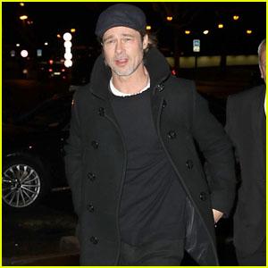 Brad Pitt Visits the Museum of Modern Art in Paris!