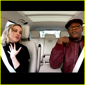 Brie Larson & Samuel L. Jackson Sing Ariana Grande's '7 Rings' for 'Carpool Karaoke' - Watch!