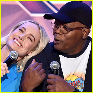 Brie Larson & Samuel L. Jackson Sing 'Shallow' Together - Watch Now!