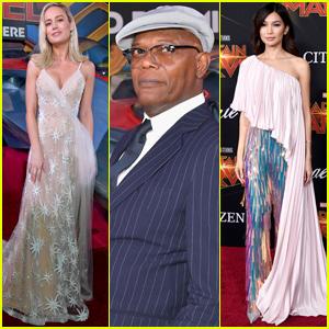 Brie Larson Joins Gemma Chan, Samuel L. Jackson & 'Captain Marvel' Cast at LA Premiere