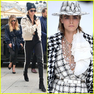 Cara Delevingne Gets Support From Girlfriend Ashley Benson at Emotional Chanel Fashion Show