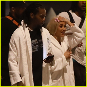 Cardi B & Offset Rock Robes After Yachting in Cabo San Lucas