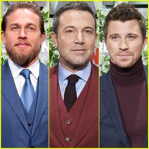 Charlie Hunnam, Ben Affleck, & Garrett Hedlund Bring 'Triple Frontier' to Madrid