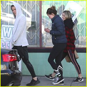 Chris Pine & Girlfriend Annabelle Wallis Get Breakfast Together in Los Feliz