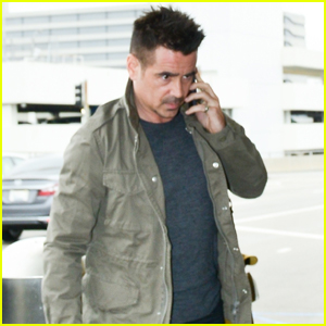 Colin Farrell Jets to London to Promote 'Dumbo'