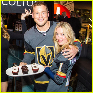 Colton Underwood & Cassie Randolph Have a Vegas Date Night at Golden Knights Game!