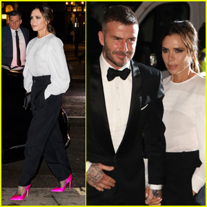 David & Victoria Beckham Step Out for Portrait Gala in London