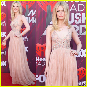 Elle Fanning Is Pretty in Pink For iHeartRadio Music Awards 2019