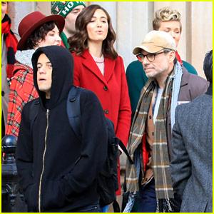 Emmy Rossum Films 'Mr Robot' with Rami Malek!