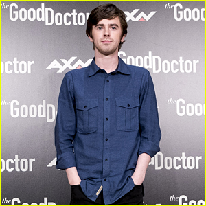 Freddie Highmore Poses at 'The Good Doctor' Photocall in Madrid