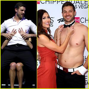 The Bachelorette's Garrett Yrigoyen Strips Down, Gives Becca Kufrin a Lap Dance at Chippendales Show!