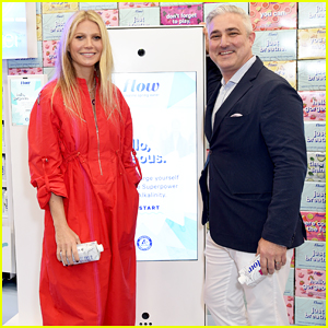 Gwyneth Paltrow Tries Out Flow Alkaline Spring Water's New Experience at ExpoWest!