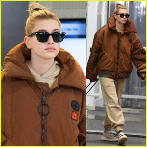 Hailey Bieber Arrives Back in NYC After Quick Trip to Paris
