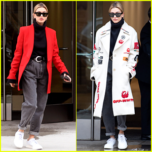 Hailey Bieber Shows Off Two Looks in One Day While Out in NYC