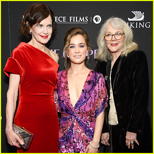 Haley Lu Richardson, Elizabeth McGovern, & Blythe Danner Premiere 'The Chaperone' in NYC