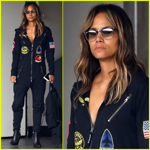 Halle Berry Steps Out in Aviator Onesie While Out in Beverly Hills