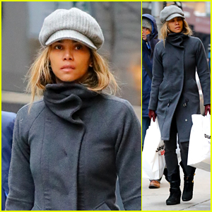 Halle Berry Bundles Up for Some Shopping in Chilly NYC