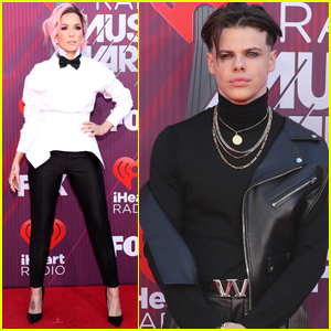 Halsey & Boyfriend Yungblud Walk the Red Carpet Separately at iHeartRadio Music Awards 2019