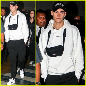 Hero Fiennes Tiffin Arrives in Brazil For 'After' Press Conference!