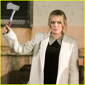Hilary Duff Holds Up an Axe on 'Younger' Set!